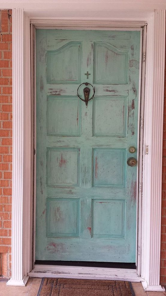 Puerta lacada con chalk paint