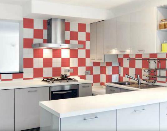 Azulejos de la cocina pintados con Blatemlux