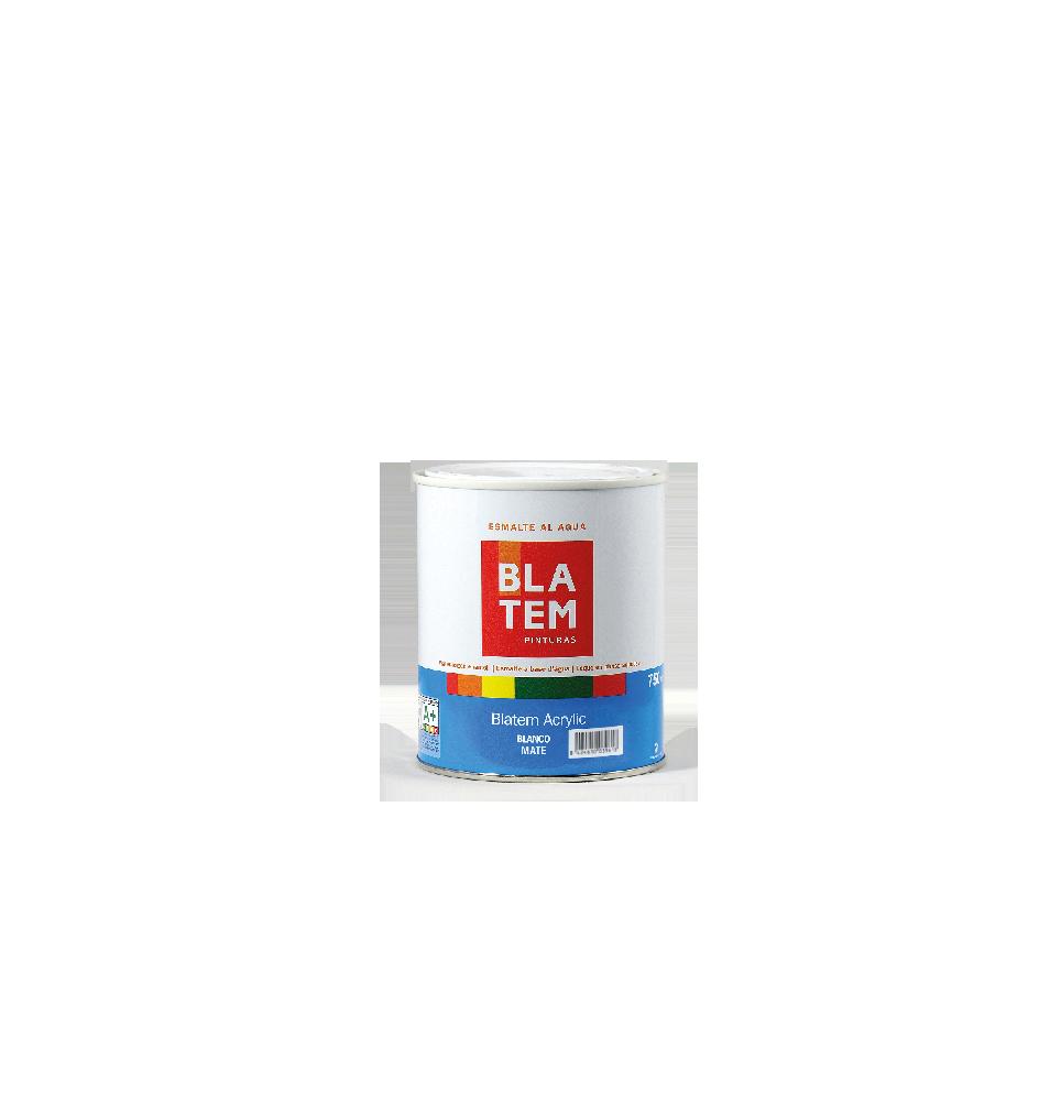 Blatem acrylic mate blanco 750 ml.