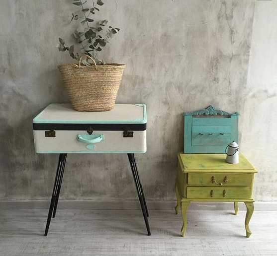 Paredes decoradas con efecto chalk paint