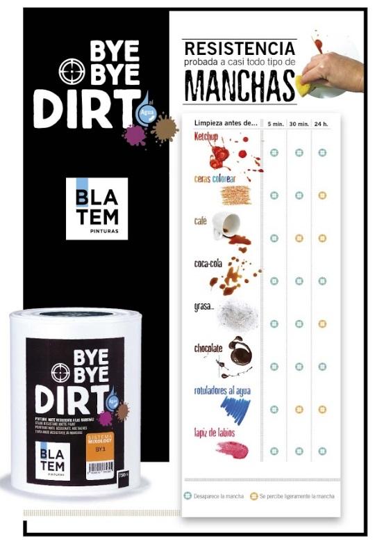 Tabla Bye Bye Dirt pintura antimanchas
